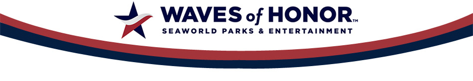 Seaworld waves of honor logo