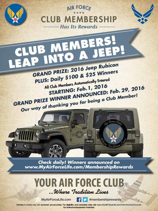 win a jeep club promo