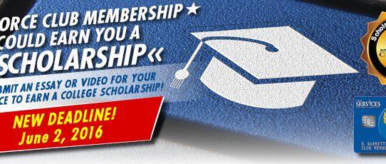 Club Scholarship Program Extended!