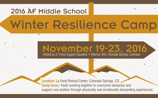2016 AF Middle School Winter Resilience Camp
