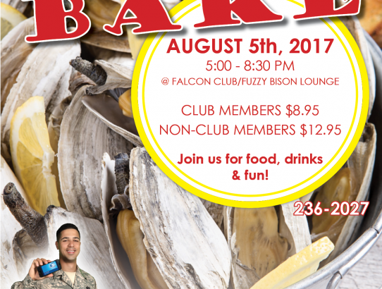 August 5th Clam Bake!