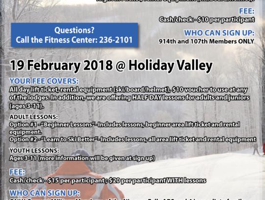 2 Ski Trips in February
